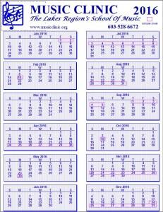 Calendar Year View 2016