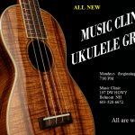 Ukulele Group every 3rd Monday of the month from 7:00-8:30 PM